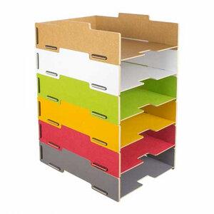 Briefablage stapelbar Schreibtisch Organizer Ordnungssystem Ablagebox Büro Holz DIN A4 ver. Farben - Werkhaus GmbH