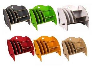 Schreibtisch Organizer Ordnungssystem Ablagebox Büro Holz 16x 32 cm ver. Farben - Werkhaus GmbH