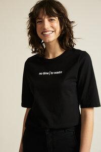 Shirt aus Bio-Baumwolle mit recycelter Baumwolle - NO TIME TO WASTE - LANIUS