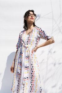 Kleid Kalina aus bestickter Baumwolle - ME&MAY