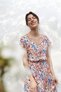 Kleid Mandeville aus fließender Viskose - ME&MAY
