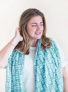 Schal aus Bio-Baumwolle – Scandic Flower 3236 - Djian Collection