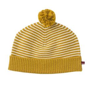 Baby Mütze grau u. gelb Bio Baumwolle People Wear Organic - People Wear Organic