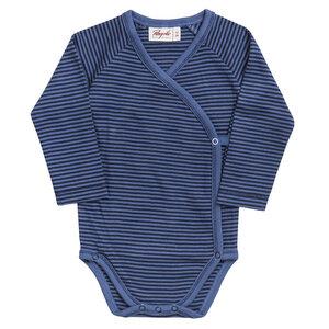 Baby LA Wickelbody blau geringelt Bio People Wear Organic - People Wear Organic