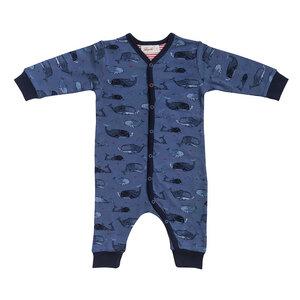 Baby Overall dunkelblau gemustert u. Blümchen Bio People Wear Organic - People Wear Organic
