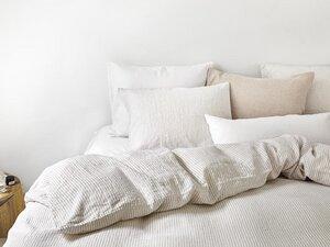 Bettwäscheset Gewaschen Leinen Stripe - Yumeko