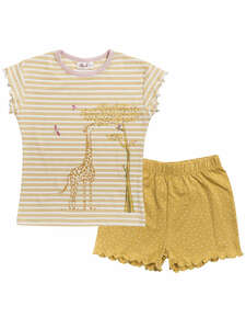 Kinder Pyjama/Shorty Giraffe reine Bio-Baumwolle - People Wear Organic