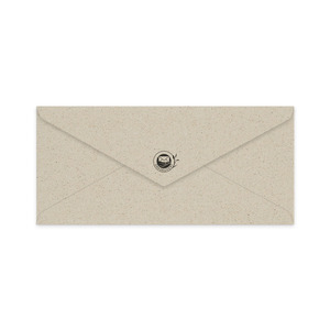 Kuverts lang aus Graspapier mit Fenster - Matabooks