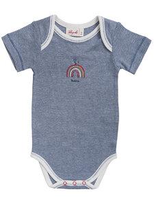 Baby Ringel Kurzarm Body reine Bio-Baumwolle - People Wear Organic
