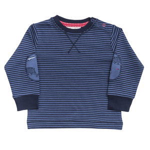 Baby u. Kinder Langarmshirt blau u. rot geringelt Bio People Wear Organic - People Wear Organic