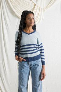 Recycelter Pullover für Frauen aus Denim-Baumwolle Brigitte - Rifò - Circular Fashion
