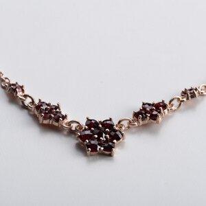 Vintage Unikat: Granat Collier, Roségold - MishMish by WearPositive