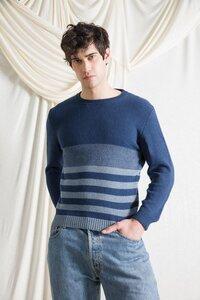 Recycelter Pullover aus Denim-Baumwolle Marlon - Rifò - Circular Fashion