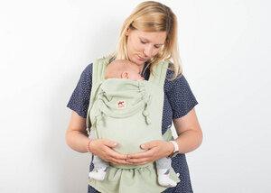 Baby Tragehilfe MySol Plant Dyed Palo Pito grün - Girasol