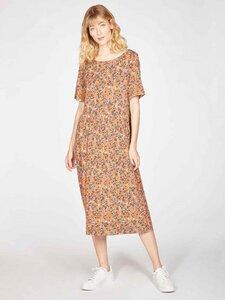 Midi-Kleid ANTONIA mit Blumenmuster aus Bambus und Bio-Baumwolle - Thought