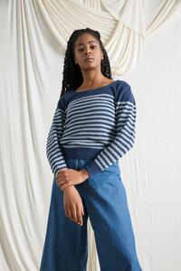 Recycelter Pullover aus Denim-Baumwolle Coco - Rifò - Circular Fashion