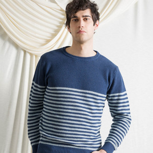 Recycelter Pullover aus Denim-Baumwolle Pablo - Rifò - Circular Fashion