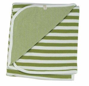 Baby Bio Kuscheldecke Broad Stripes, Farbe: grün - Organics for Kids