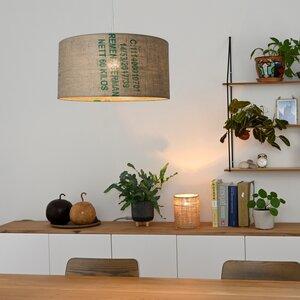 Deckenleuchte Perlbohne N°61 aus Kaffeesack - lumbono