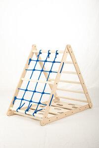 Orang-Utan Kletterdreieck (Netz, Sprossen- und Kletterseite) - Kletterling Holzspielzeug