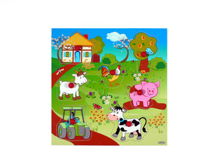 Griffpuzzle Bauernhof wunderschön zum Spielen - HESS Holzspielzeug