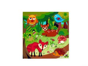 Griffpuzzle Waldtiere wunderschön zum Spielen - HESS Holzspielzeug