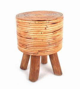 Hocker handgefertigt aus Holz - El Puente