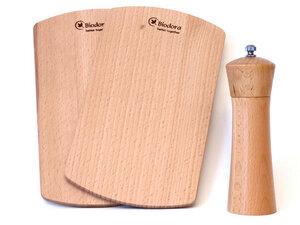 Gewürzmühle mit 2 Holzschneidebretter - Biodora