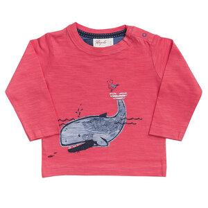 Baby u. Kinder Langarmshirt rot mit Applikation Bio People Wear Organic - People Wear Organic