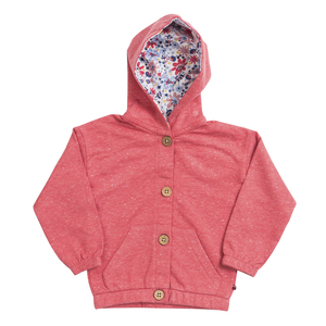 Baby u. Kinder Jacke mit Kapuze dunkelblau u. rot Bio People Wear Organic - People Wear Organic