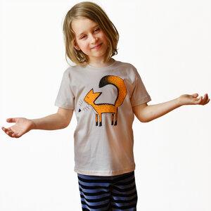 Kinder T-Shirt Franzi Fuchs hellgrau - Cmig