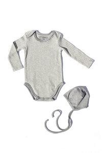 Baby Newborn Set - Body ohne Elasthan und Mütze zum Binden - Lana naturalwear