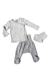 Baby Newborn Set - Wickelshirt, Hose und Halstuch - Lana naturalwear