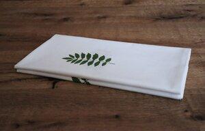 """Tischdecke """"Pflanzenblatt"""" handbedruckt - luscinia"""