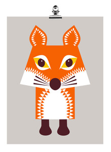 Mini-Poster Fuchs - mibo