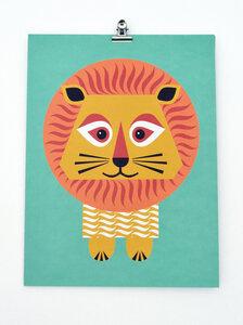 Mini-Poster Löwe - mibo