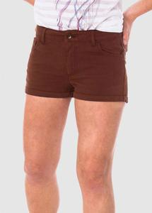 Chino Short Ladies Rusty Red - bleed