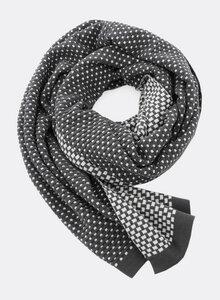 Gestrickter Schal aus Bio-Baumwolle – gestrickte Mini Karos 4184 - Djian Collection