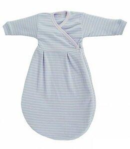 Popolini Baby Felinchen Schlafsack blau weiß 62/68 kba Baumwolle - Popolini