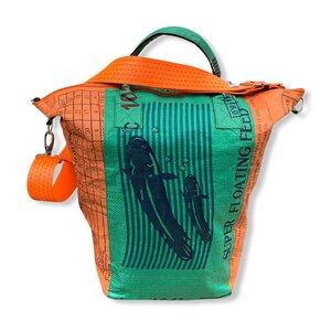 Großer Multifunktionsbehälter / Wäschesack recycelter Reissack - Beadbags