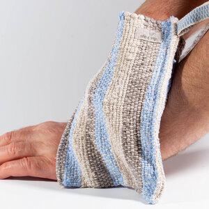 """Massagehandschuh, Wellnesshandschuh 100% BioLeinen """"zero-waste"""" - nahtur-design"""