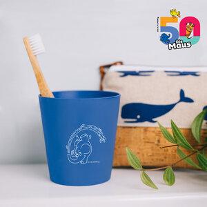 Nachhaltiger Kinder Zahnputzbecher | Sendung mit der Maus | aus nachwachsenden Rohstoffen | Jubiläums Edition | Elefant - HYDROPHIL