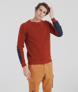 Patched Elbows Sweater - thinking mu