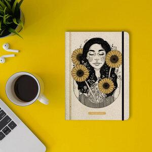 """Nachhaltiges Notizbuch A5 - Nari """"Sunflower"""" - Matabooks"""