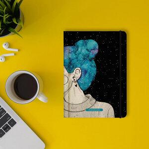 "Nachhaltiges Notizbuch A5 - Nari ""Blue Starry Sky"" - Matabooks"