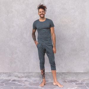 ALI MELANGE - Männer - 3/4 Hose für Yoga und Freizeit aus Biobaumwolle - Jaya