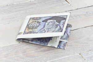 Portemonnaie (Big) - 100 Mark (reißfestes Tyvek®) - paprcuts