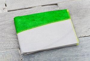 Portemonnaie (Big) - Grau/Grün (reißfestes Tyvek®) - paprcuts