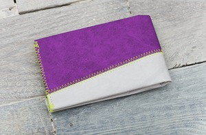 Portemonnaie (Big) - Grau/Violett (reißfestes Tyvek®) - paprcuts