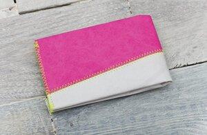 Portemonnaie (Big) - Grau/Pink (reißfestes Tyvek) - paprcuts